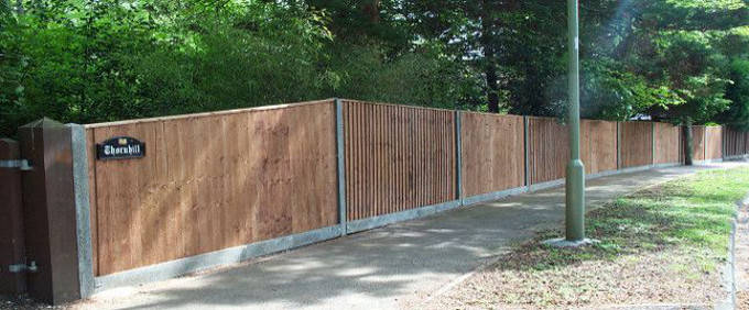 Timber Garden Fencing Panels
